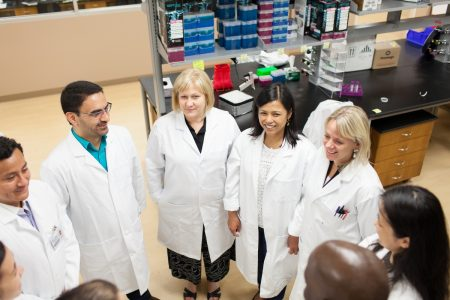 Dr. Flores & team in lab